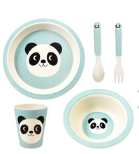 Load image into Gallery viewer, Childrens Panda Dinner Set