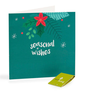 Recycled Christmas Card - Seasonal Wishes