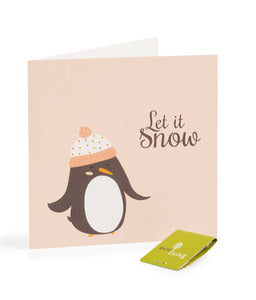 Recycled Christmas Card - Penguin