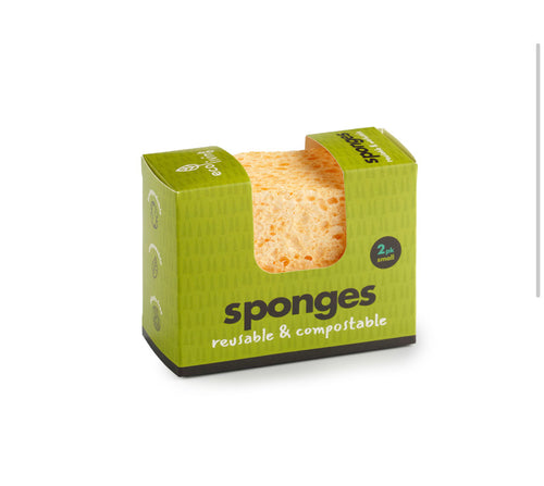 Compostable Wavy Sponges (Pack of 2)