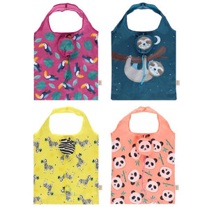 Eco Animals Foldable Shopping Bag - Sloth