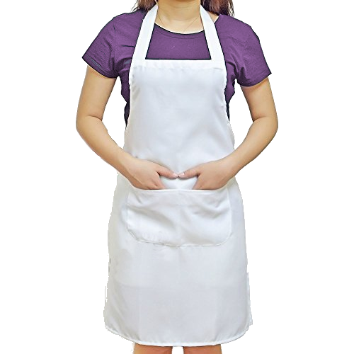 Bib Apron, Unisex w/Pockets [APR01]