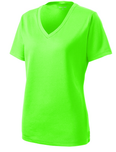 Sport-Tek LST340 Ladies PosiCharge RacerMesh V-Neck Tee