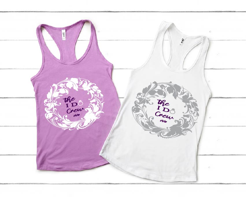 Custom Wedding Tank Tops