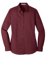 Load image into Gallery viewer, Port Authority® LW100 Ladies Long Sleeve Carefree Poplin Shirt