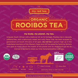 Organic Rooibos, My Red Tea - 80/160 Tagless Teabags