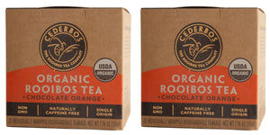 Cederbos Organic Rooibos - Double Pack 2x20 Tagged Teabags - 100g (3.52oz)