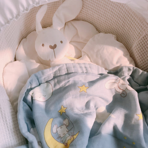 [Bundle of TWO] Double Layer Bamboo Muslin Swaddle