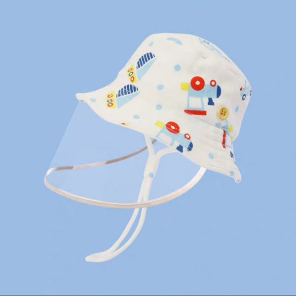 [PO] Protective Bucket Hat with Removable Face Shield