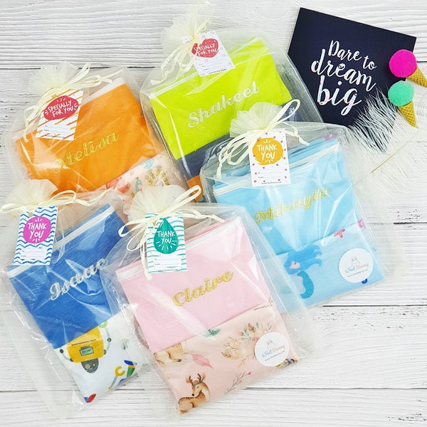 Personalised Waterproof Wet Bag Party Packs (15 Designs)
