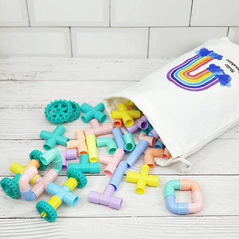 [PO] 108pc Pastel Connecting Pipes Set