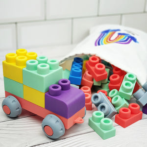 [PO] 40pc Silicone Mega Building Blocks Set