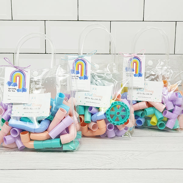 45pc Pastel Connecting Pipes Party Pack