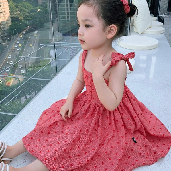 [PO] Mae Red Hearts Sleeveless Dress