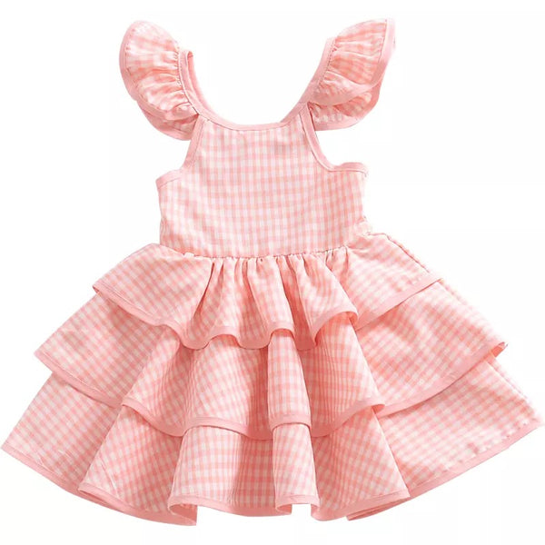 [PO] Lindy Checkered Cake Dress