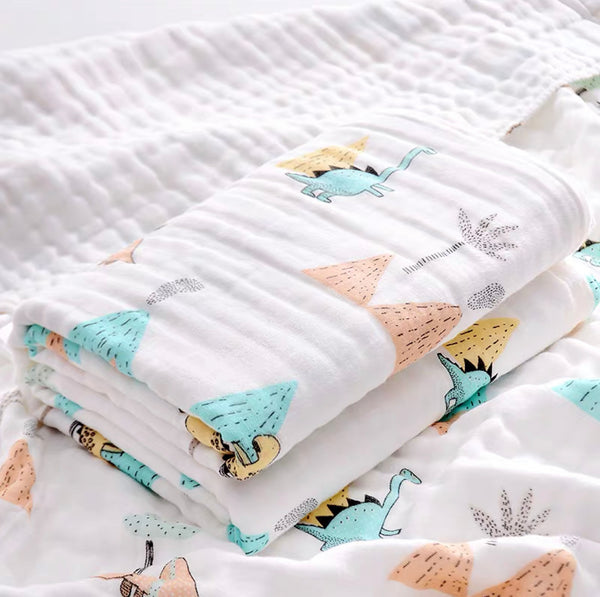 [PO] 6 Layers 100% Cotton Muslin Blanket (7 Designs)