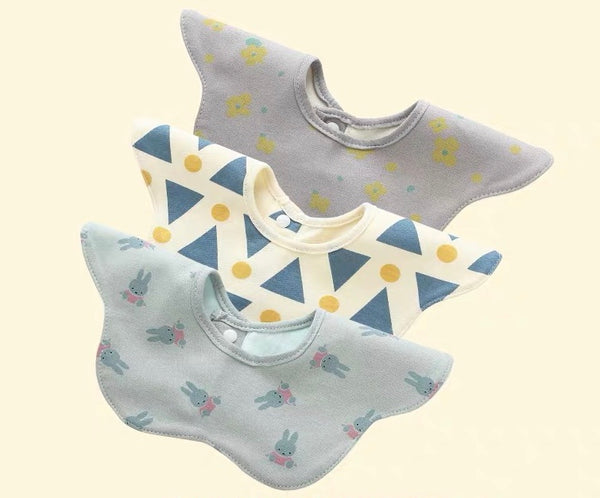 [PO] Baby 360 Degree Drool Absorbent Bib (5 Designs)