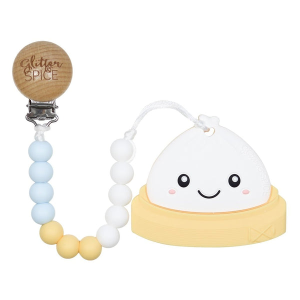 Glitter & Spice - Dim Sum Bao Teether with Pacifier Clip
