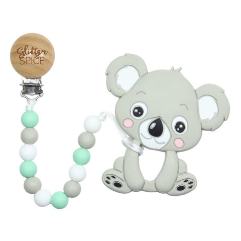 Koala Teether with Pacifier Clip