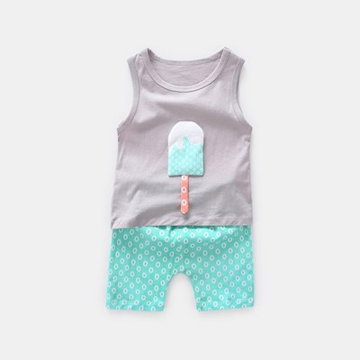 Popsicle Fun Summer Sleeveless 2 Piece Set