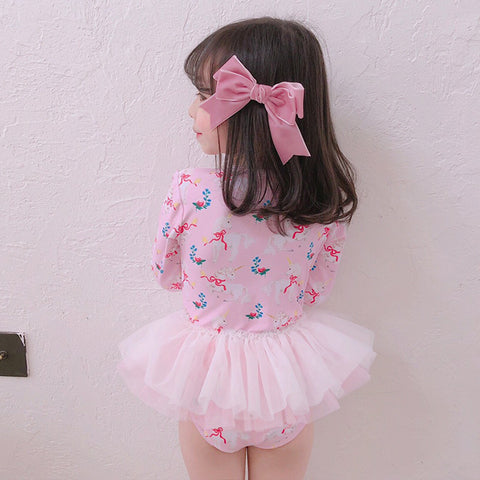 [PO] Unicorn Long Sleeve Tutu Swimsuit