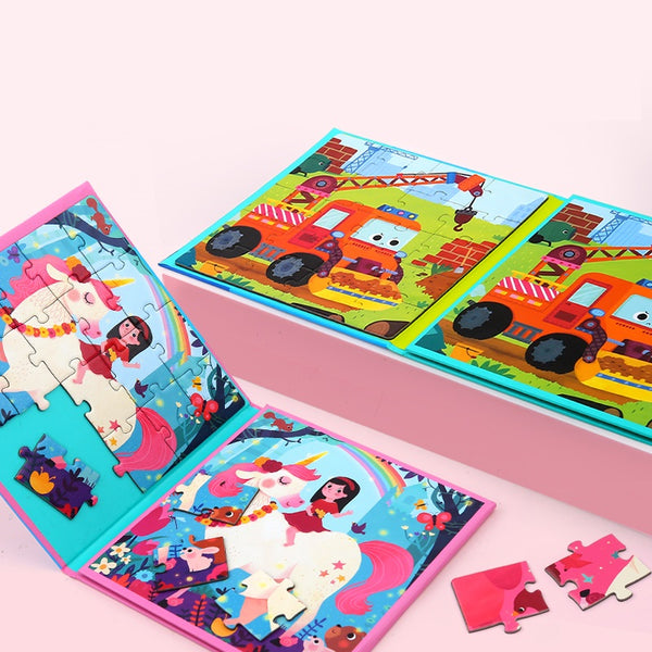 [PO] Fantasy World 2 in 1 Magnetic Puzzle Book (4 Designs)