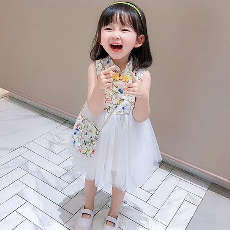 [PO] Leah Embroidered Oriental Tulle Dress