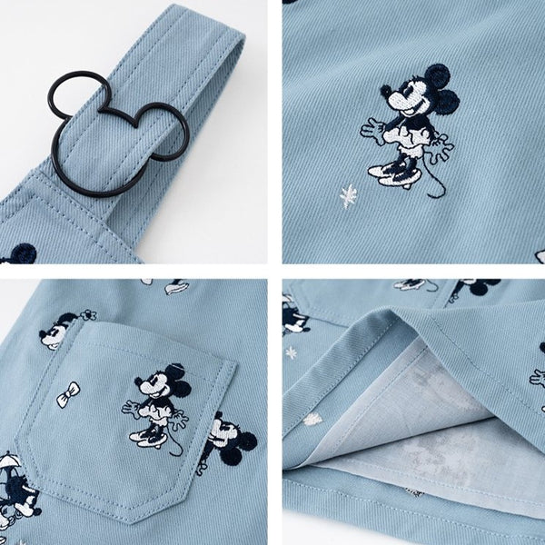 Quinny Mickey Denim Overall Dress & Shorts