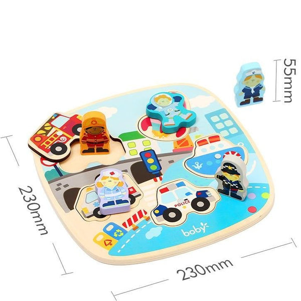 [PO] Montessori Toy - Double Magnetic Puzzle & Fishing Game (3 Designs)