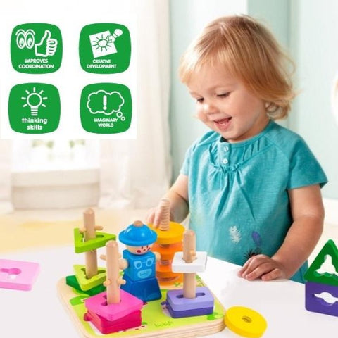 [PO] Montessori Toy - Little Toolman Creative Peg Puzzle Sorter