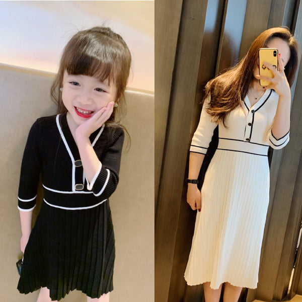 [PO] Camilia Monochrome Mini Me Dress