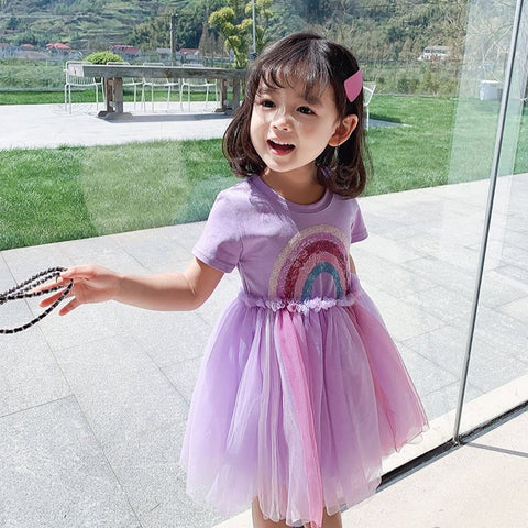 [PO] Over the Rainbow Tulle Dress