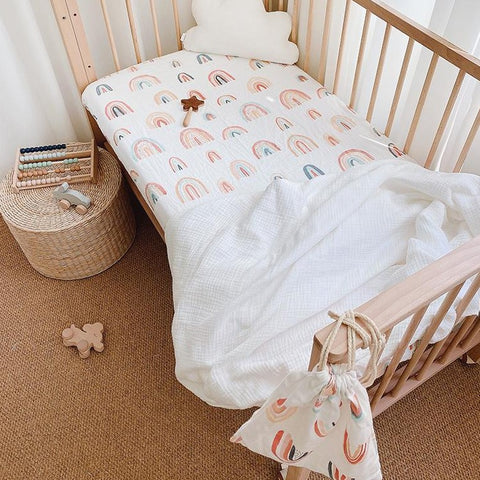 [PO] Muslin Fitted Cot Sheet (6 Designs)