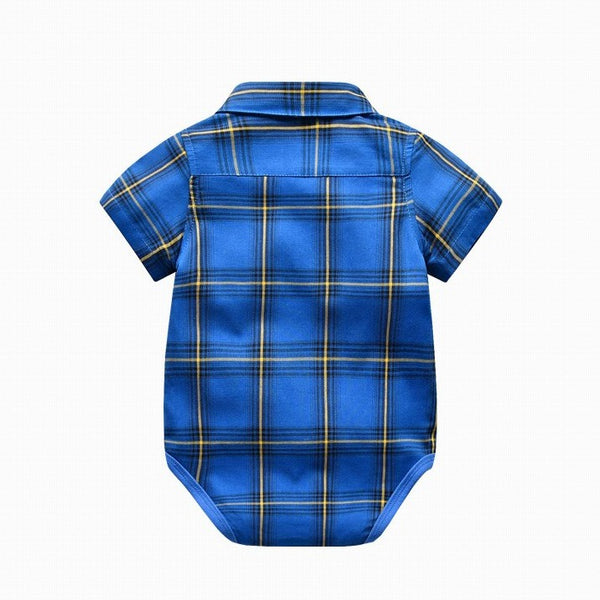 Colton Checkered Stylish Bodysuit