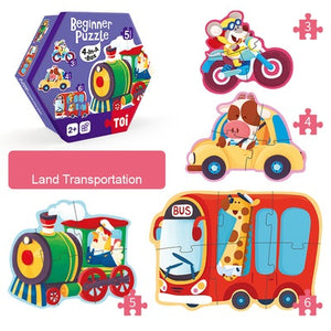 4-In-A-Box Beginner Puzzle - Land Transportation