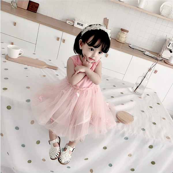 Hannah Flamingo Tulle Dress