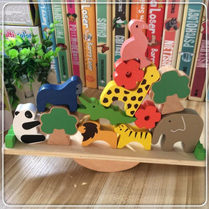 [PO] Animal Kingdom Balancing Wood Blocks