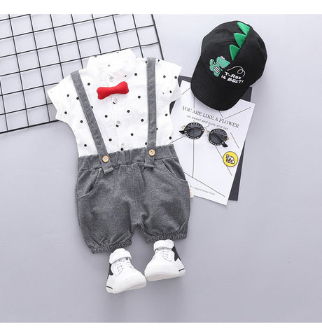 Caleb Lil' Gentleman Romper Overall Sets