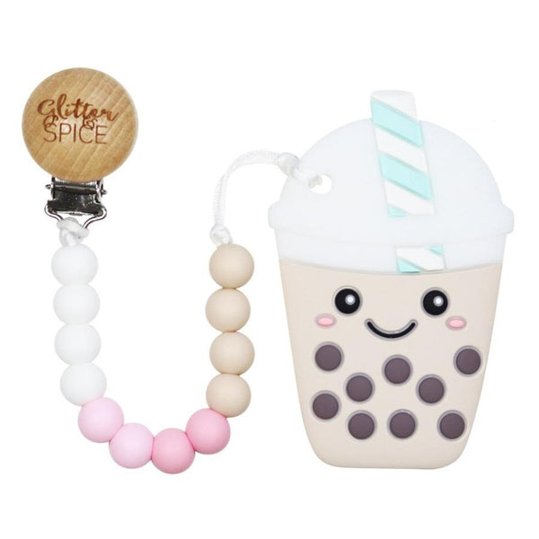 Glitter & Spice - Bubble Tea Teether with Pacifier Clip