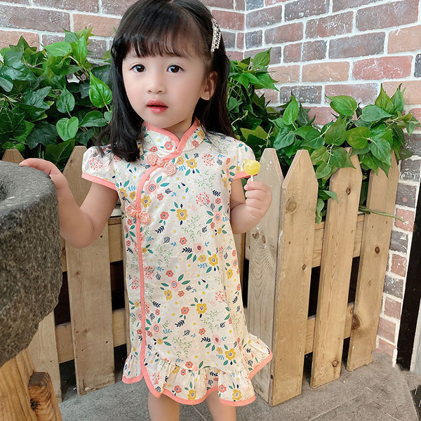 [PO] Chloe Cheongsam Flutter Dress