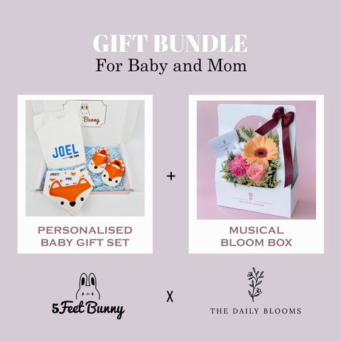 Little Animal Buddy Gift Set & Musical Floral Box