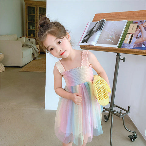 [PO] Kiera Pastel Rainbow Dress