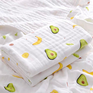 [PO] 4 Layers 100% Cotton Muslin Towel/Blanket (4 Designs)