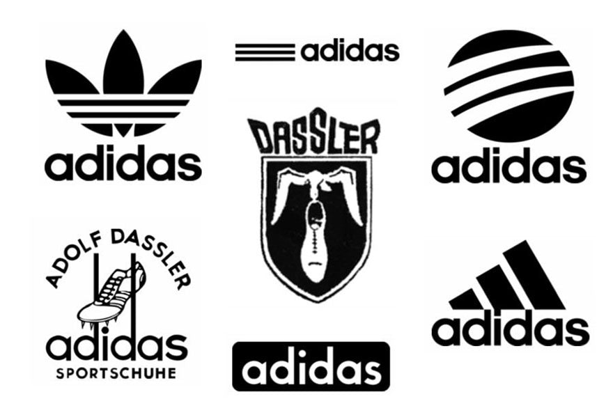 The different Adidas logos