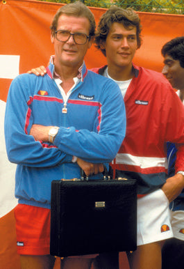 Roger moore and ellesse