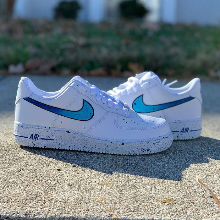 Nike Air Force 1 Custom Blue Splash TENSHI™