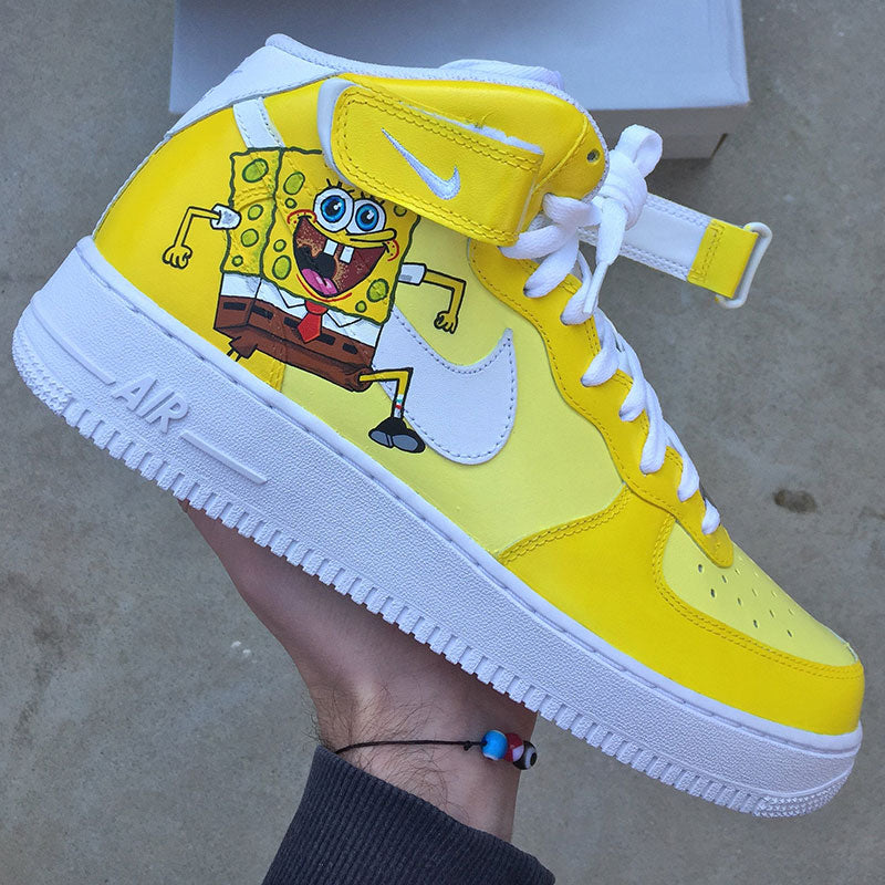 "Nike Air Force 1 Custom ""Bob L'éponge""-TENSHI™"