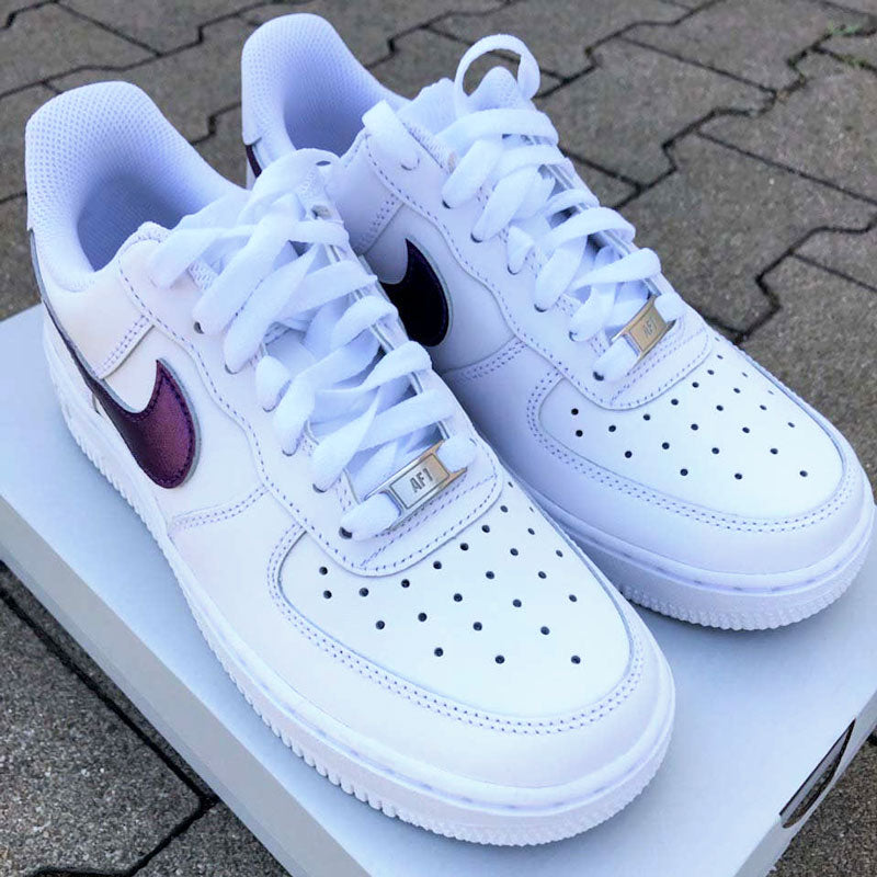 "Nike air force 1 Custom ""Violet Metallic""-TENSHI™"