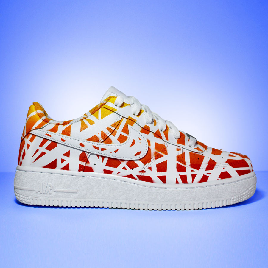 "Nike Air Force 1 Custom ""Sunset""-TENSHI™"