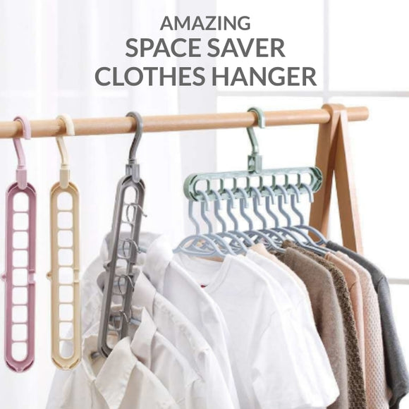 9 in 1 AMAZING SPACE SAVER CLOTHES HANGER (SET OF 10)